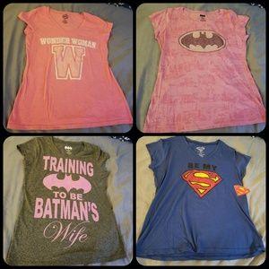Tops - 4 Superhero Tees size xxl jrs.